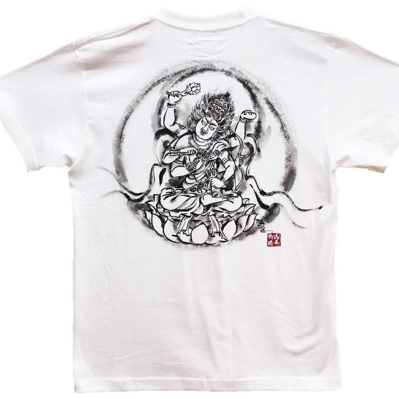 T-shirts men Aizen Myo-O white Buddhist Japanese sumi-e Art