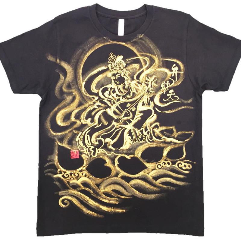 T-shirts Benzai-Ten Japanese Sumi-e Art black Handmade