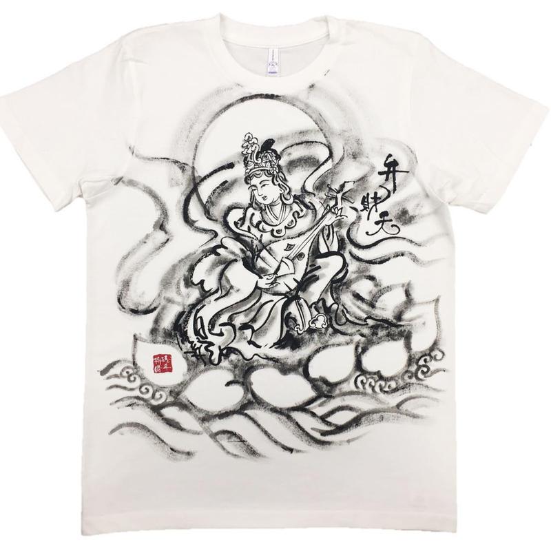 T-shirts Benzai-Ten Japanese Sumi-e Art white Handmade