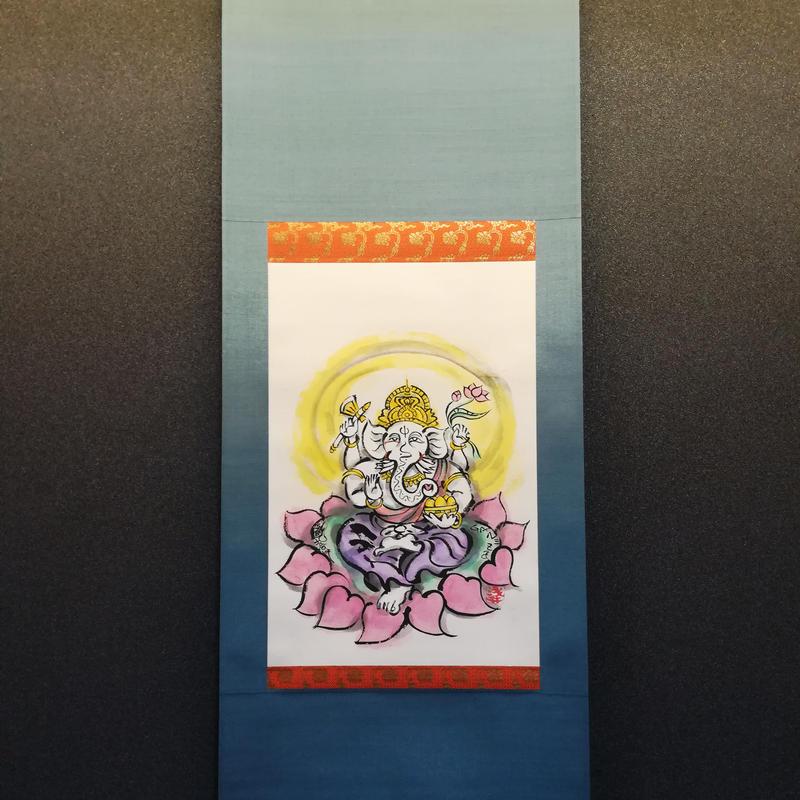 Ganesha hanging scroll original picture