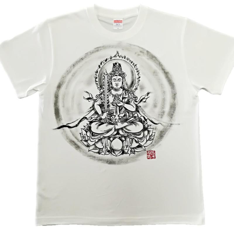 T-shirts men Kokuzou bosatsu white Buddhist Japanese sumi-e Art