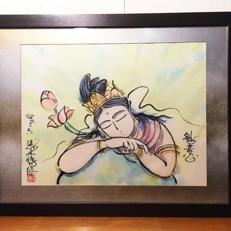 Hearts of Kannon original picture of sumi-e art
