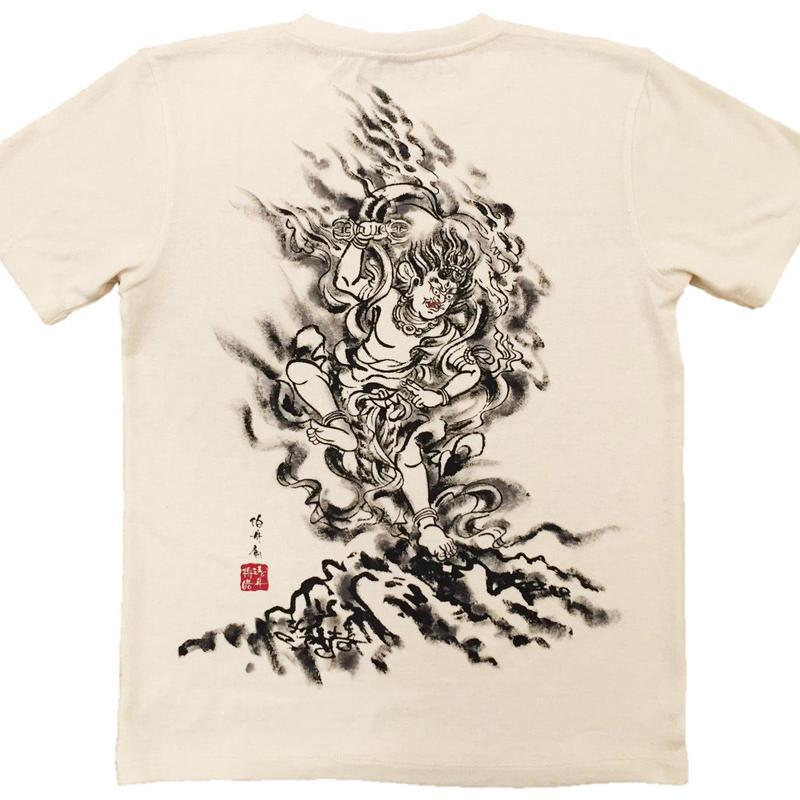 Hemp T-shirts men Zao-Gongen Buddhist Zen Japanese sumi-e art