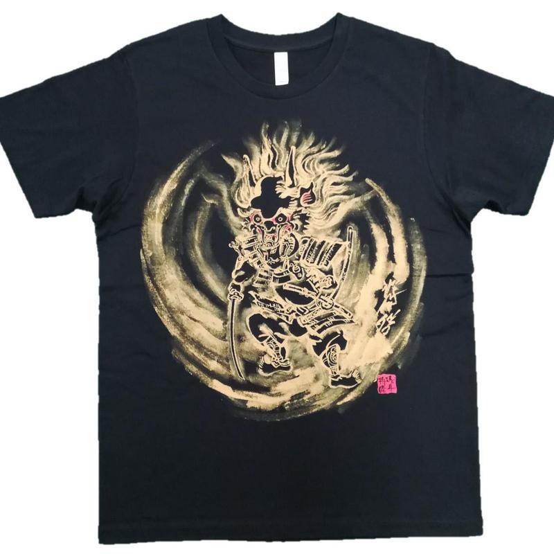T-shirts men Shuten Do-Ji black Japanese sumi-e Art