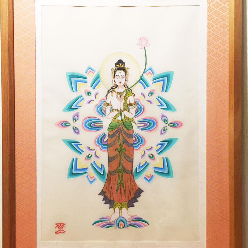 Kannon always in your heart original picture of sumi-e art