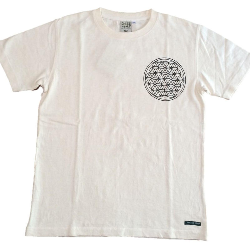 Flower of Life no.3 Charcoal and hemp ink HempT-shirts