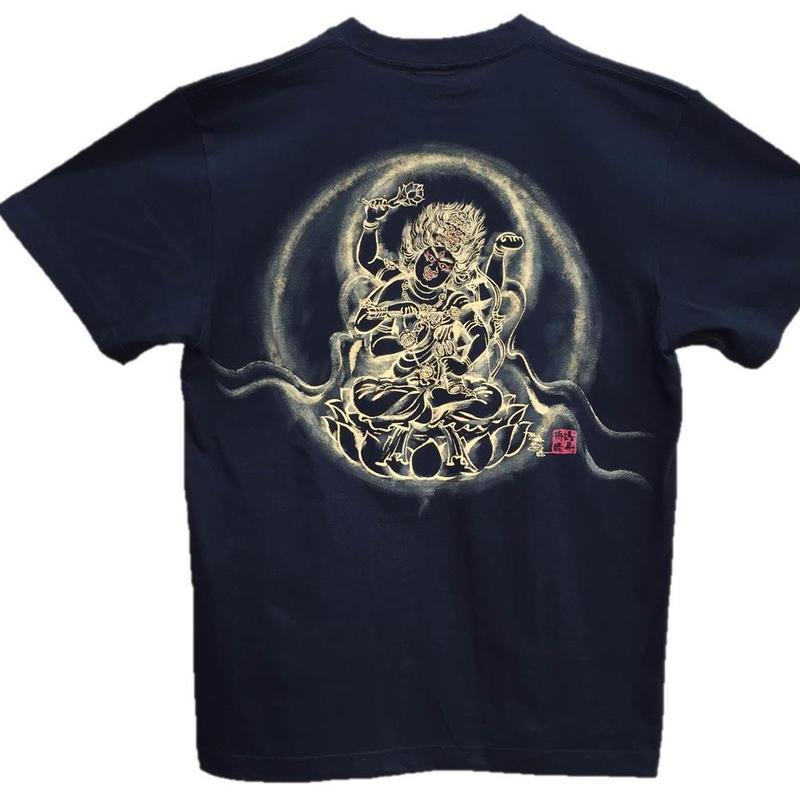T-shirts men Aizen Myo-O black Buddhist Japanese sumi-e Art