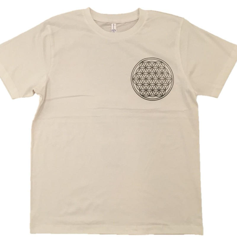 Flower of Life no.2 Charcoal and hemp ink CottonT-shirts