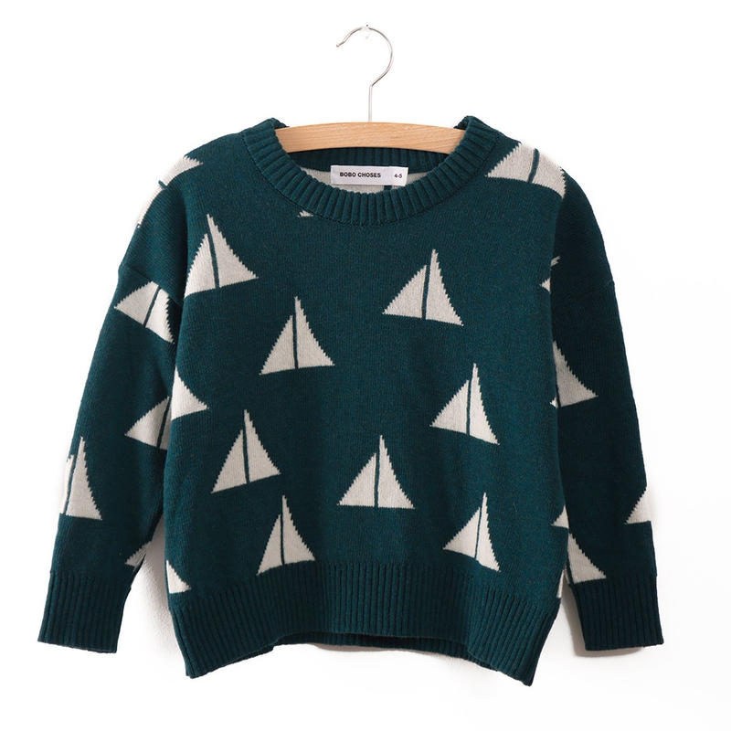 40%OFF!【Bobo Choses】KNITTED JUMPER ALMA S.B. AO(ニットプルオーバー)