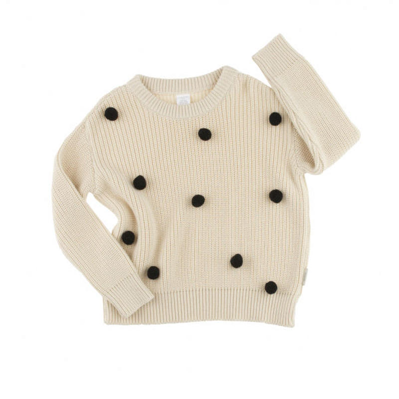 40%OFF!【tinycottons】pom poms sweater oversized(ニットセーター)