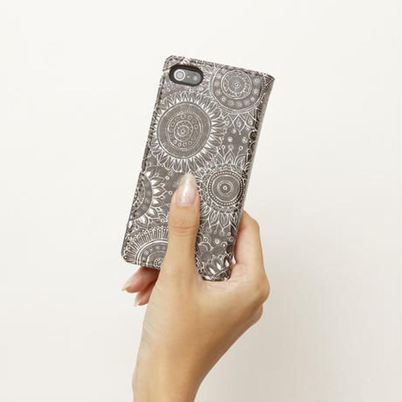 手帳型スマホケース  flower lace(iPhone5S/SE)