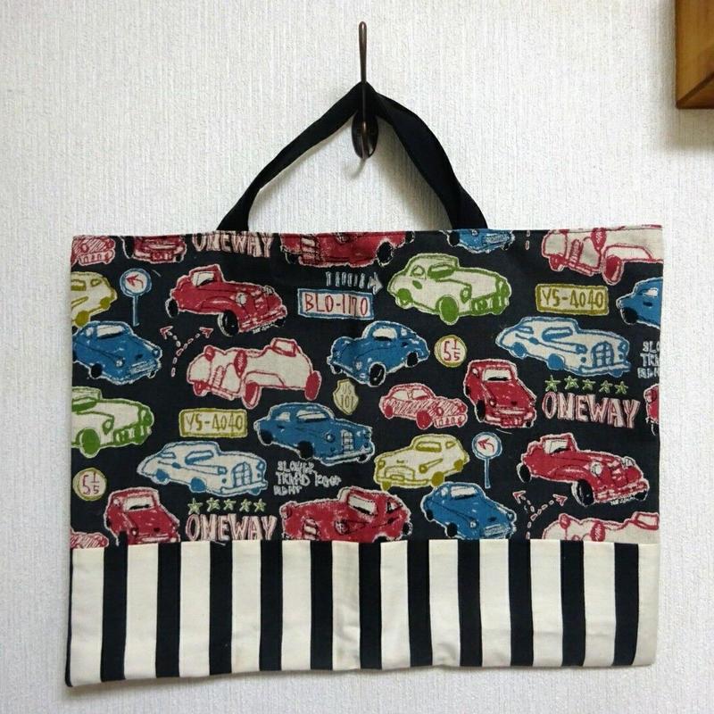 絵本袋(クラッシックカー/ブラック)