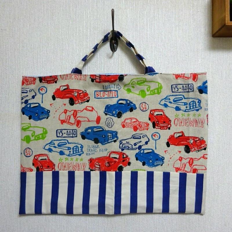 絵本袋 (クラッシックカー/ホワイト)