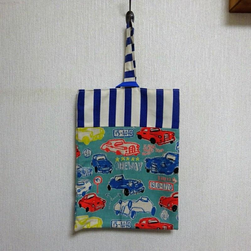 上履き袋(  クラッシックカー/グリーン)