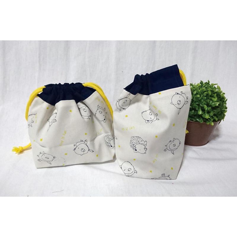 お弁当袋&コップ袋(ぶた)