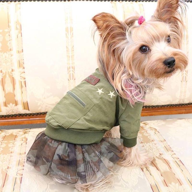 セール 大人気 idog本格的デザインのMA-1ジャケット カーキ  全国送料無料