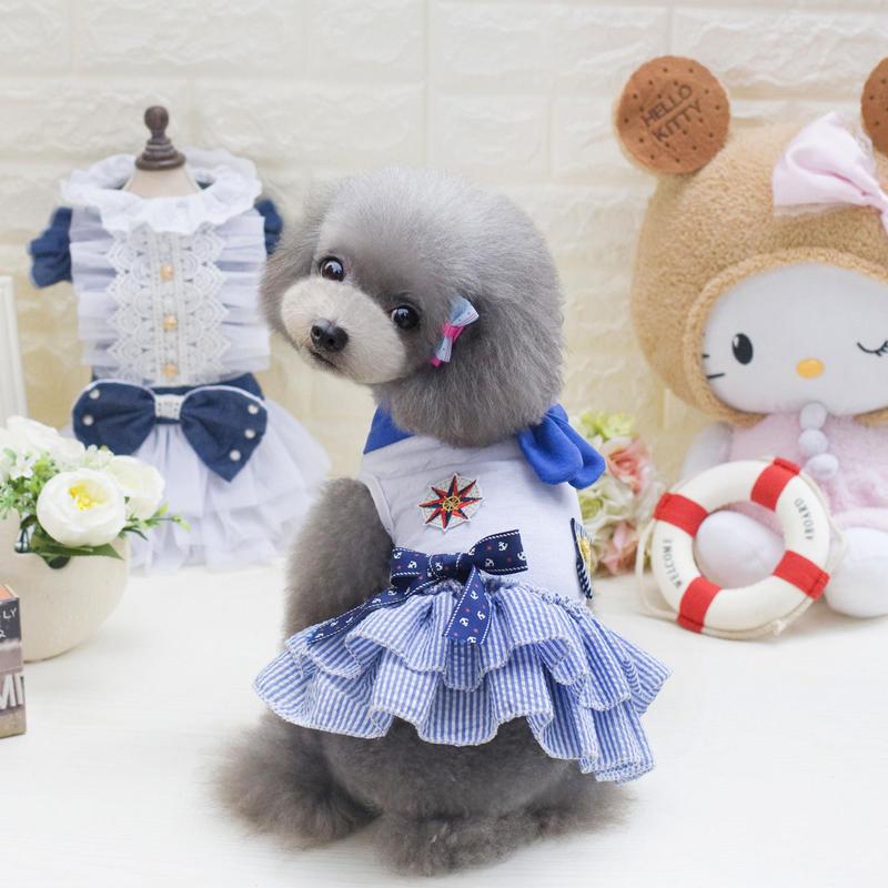 大人気★春夏のお出かけワンピースかわいいペット服 XSサイズからLサイズ送料無料