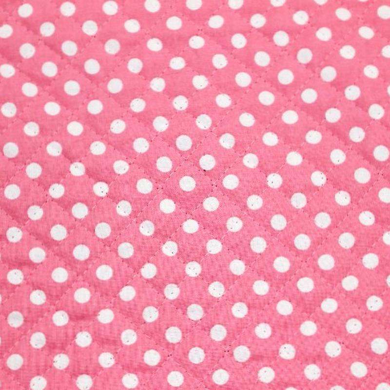 ドットキルティング(ピンク) 【10cmあたり】