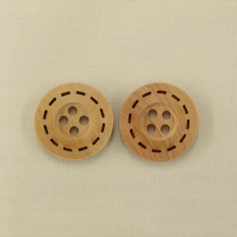 木製ボタン15mm 2個入り BBW104-15