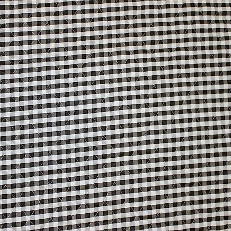 ギンガムチェックキルト 黒2 【10cmあたり】