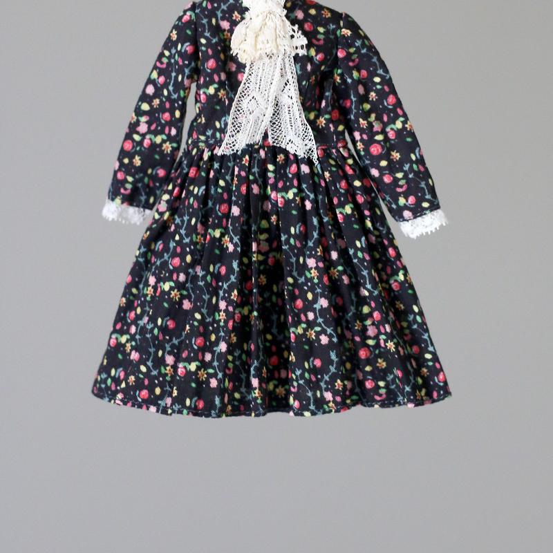 [HANON FABRIC] フルタリングペタル 黒色 / fluttering petals Black color