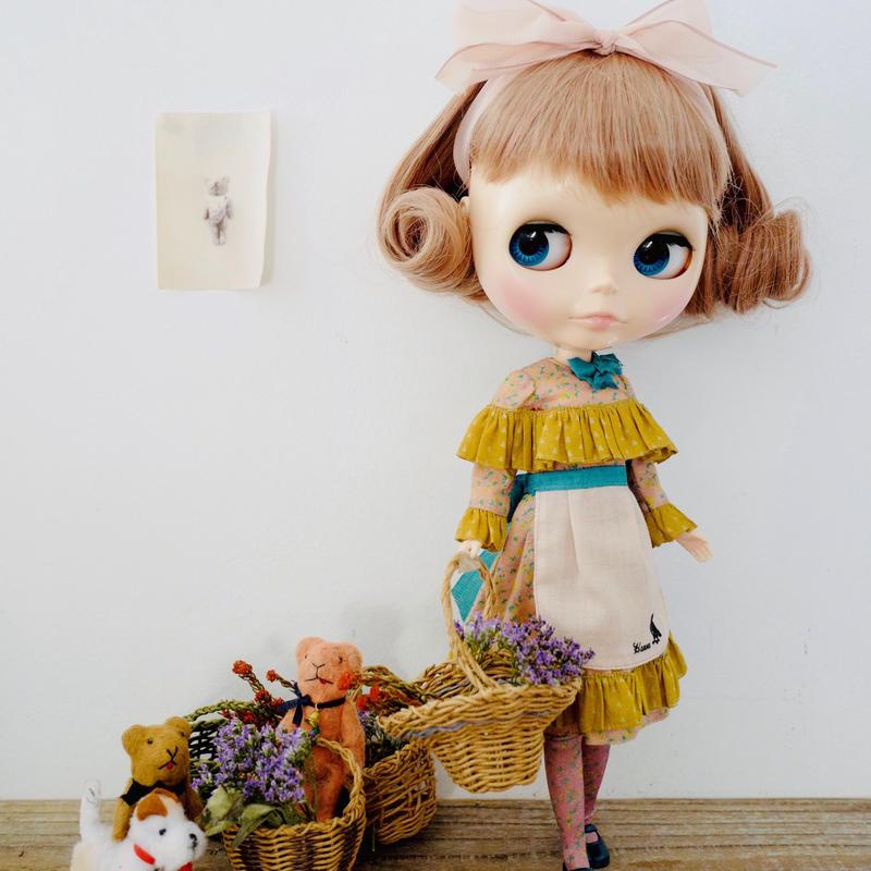 [完成品]  ハーバルドレス(ピンク色) / Herbal dress (Pink color)