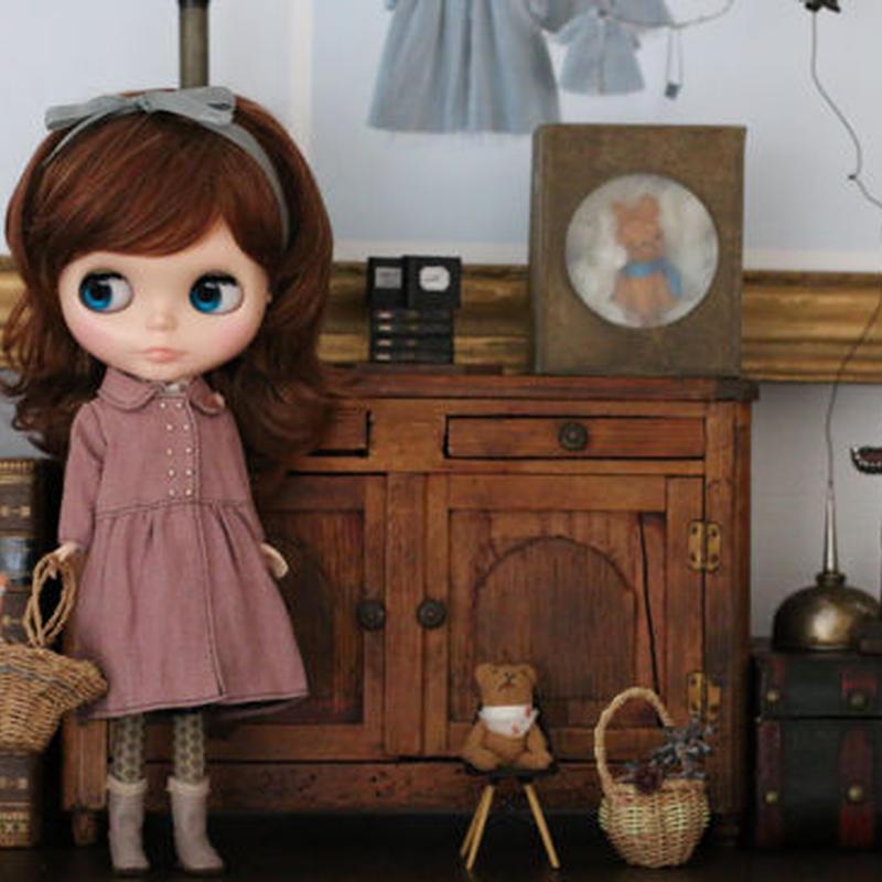 DIY リネン コートワンピース(ピンク) キット