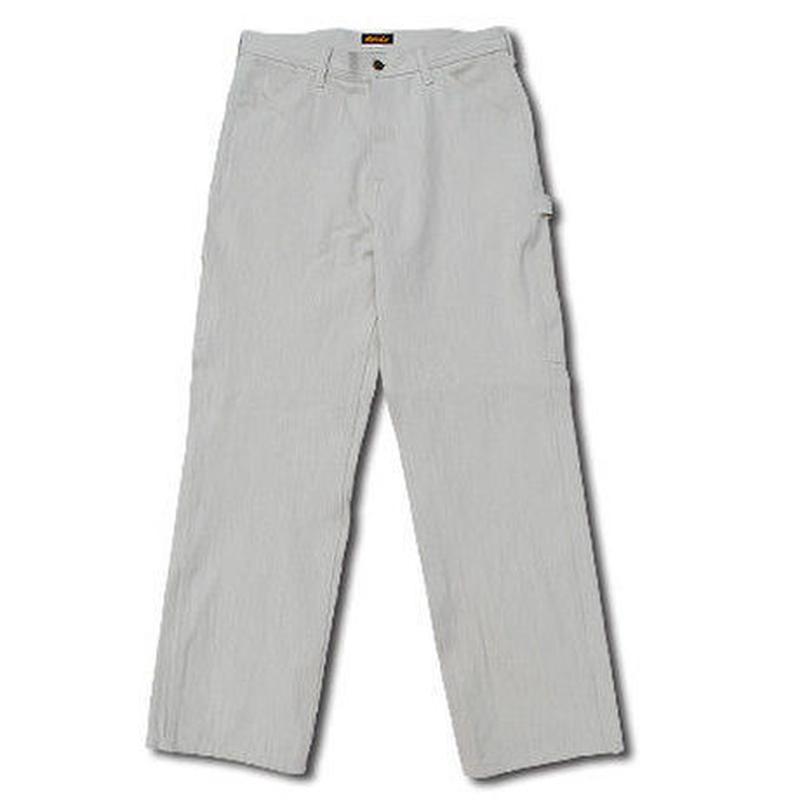 HIGHEST HERRINGBONE PAINTER PANTS WHITE