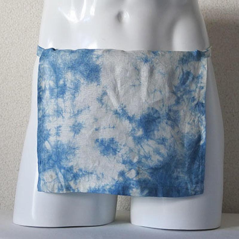 【土佐の草木染め】 室戸産藍絞り染め越中ふんどし リネン