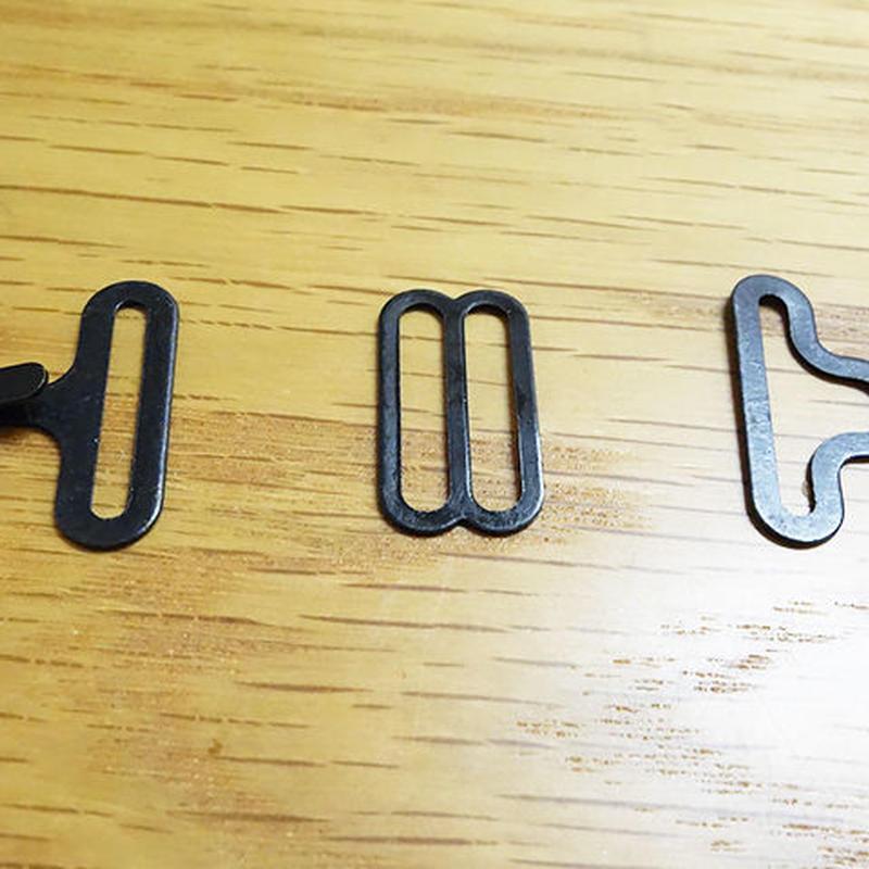 【10セット】蝶ネクタイ用金具18mmセット