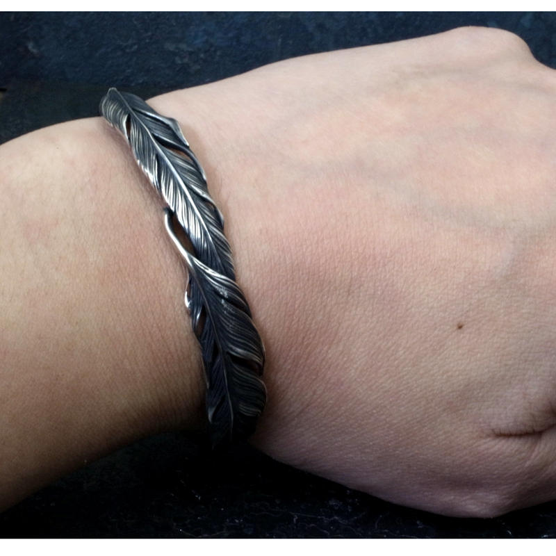 【予約】Double feather bangle SV