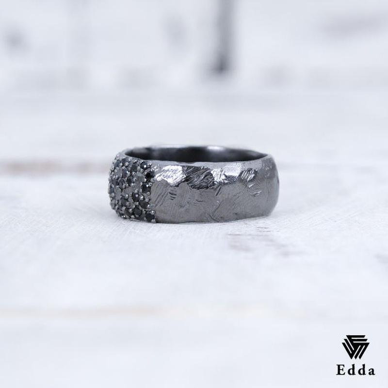 EDDA エッダ ピンキーリング 指輪 シルバー925 ブラックコーティング レディース ER-001-M