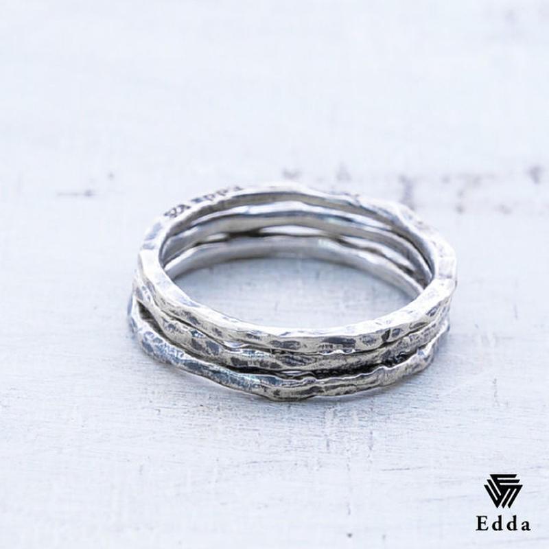 EDDA エッダ 3連リング 指輪 シルバー925 アンティーク加工 レディース