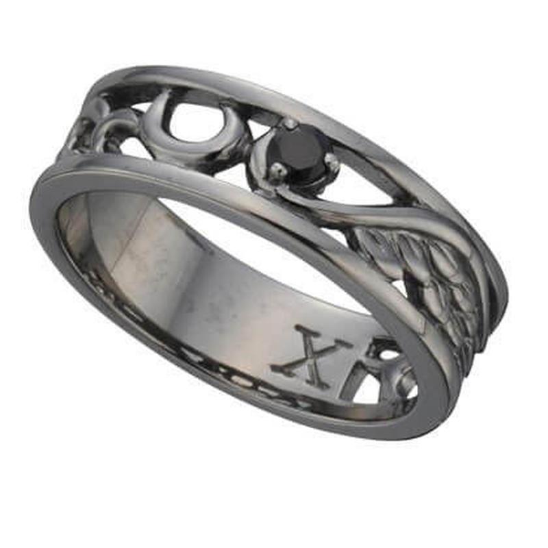 ビザール トライバルウイング シルバーリング 925 レディース ブラック指輪 お洒落 人気 オススメ プレゼント