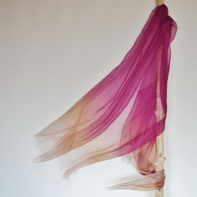 ぼかし染ラミー薄羽(うすば)L 華紫(はなむらさき)