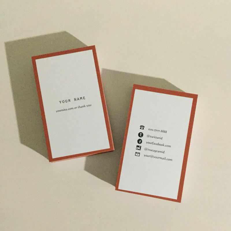 05d5_or  パーソナル名刺【100枚】【ショップカード】