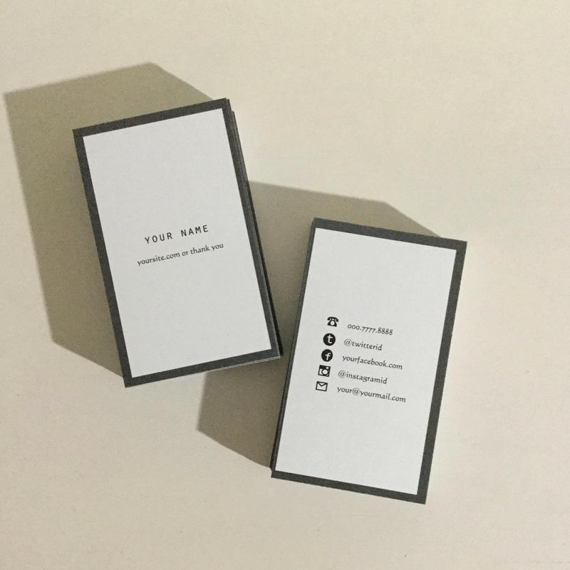 05d1_gry パーソナル名刺【100枚】【ショップカード】
