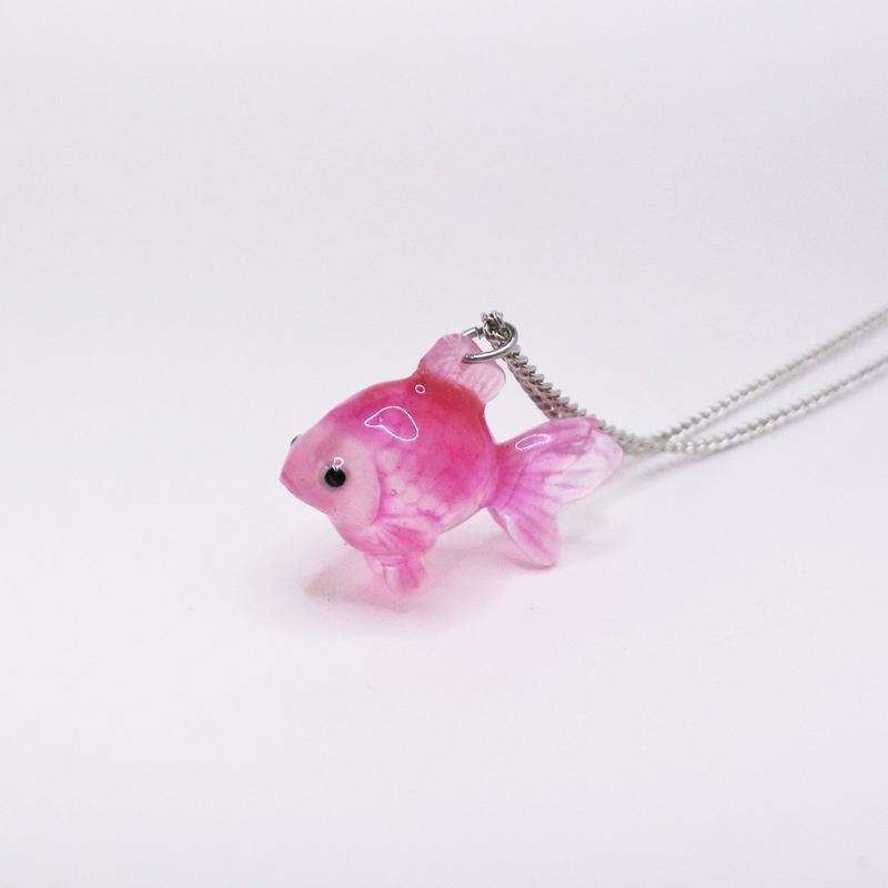 金魚ネックレス (チェーン約45cm)