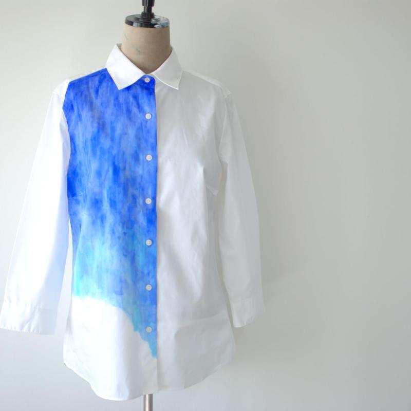 長袖ブロードシャツ 7分袖 Lady's S