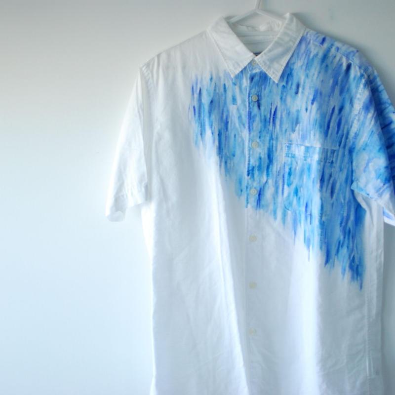 リネンコットンシャツ 半袖 Men's L