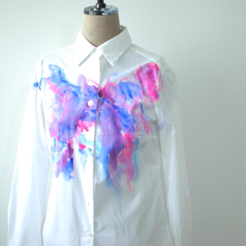 長袖ブロードシャツ Lady's S