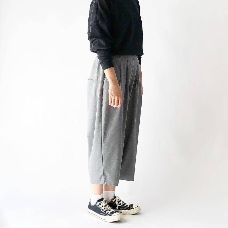 T/R WIDE EGG CROPPED PANTS (ワイドエッグ クロップドパンツ) A21502