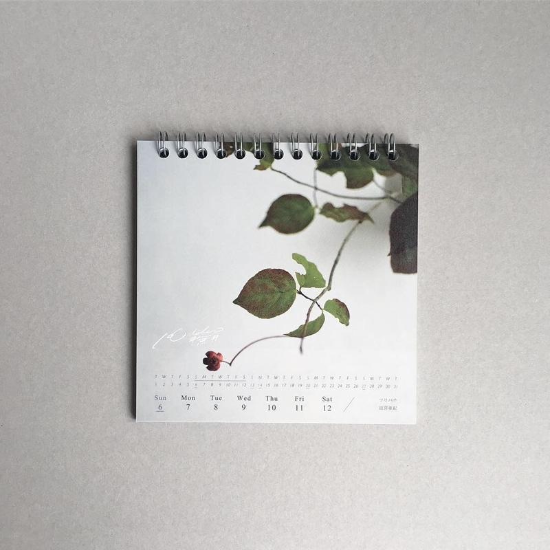 2019年 週めくりカレンダー|四季をいつくしむ花と器