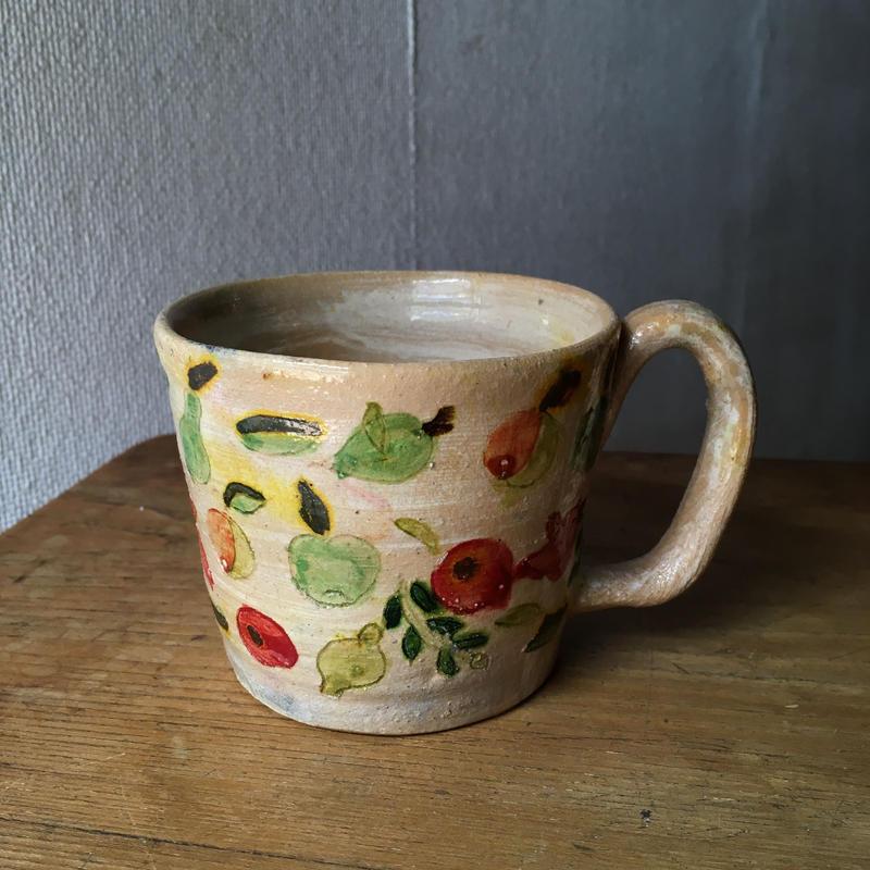メキシコ・オアハカ州 アソンパ フルーツ柄カップ