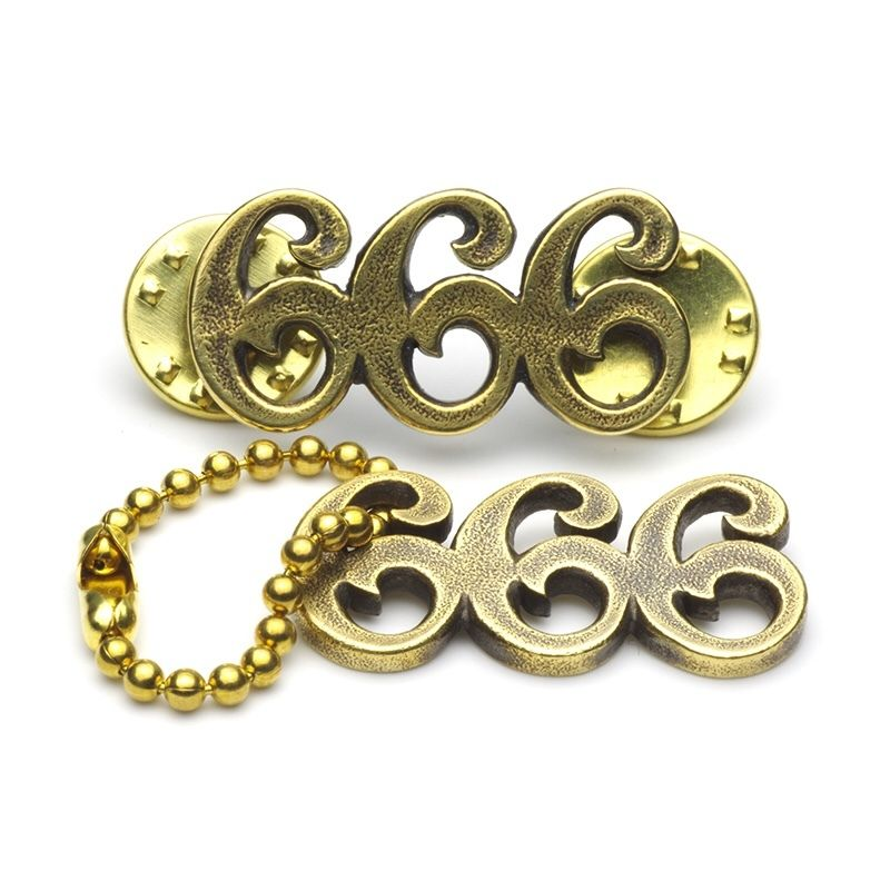 "HPS-10-B ""666"" KeyRing/Pins"