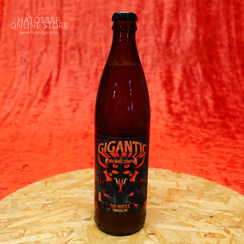 """BOTTLE#50 『THE HUSTLE』""""ジ ハッスル"""" TROPICAL IPA. alc. 6.3%/500ml by GIGANTIC Brewing."""