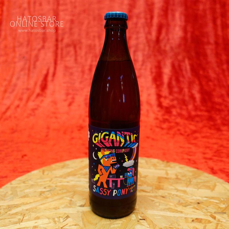 "BOTTLE#48 『SASSY PONY』""サッシーポニー"" HOPPY PALE. alc. 5.5%/500ml by GIGANTIC Brewing."