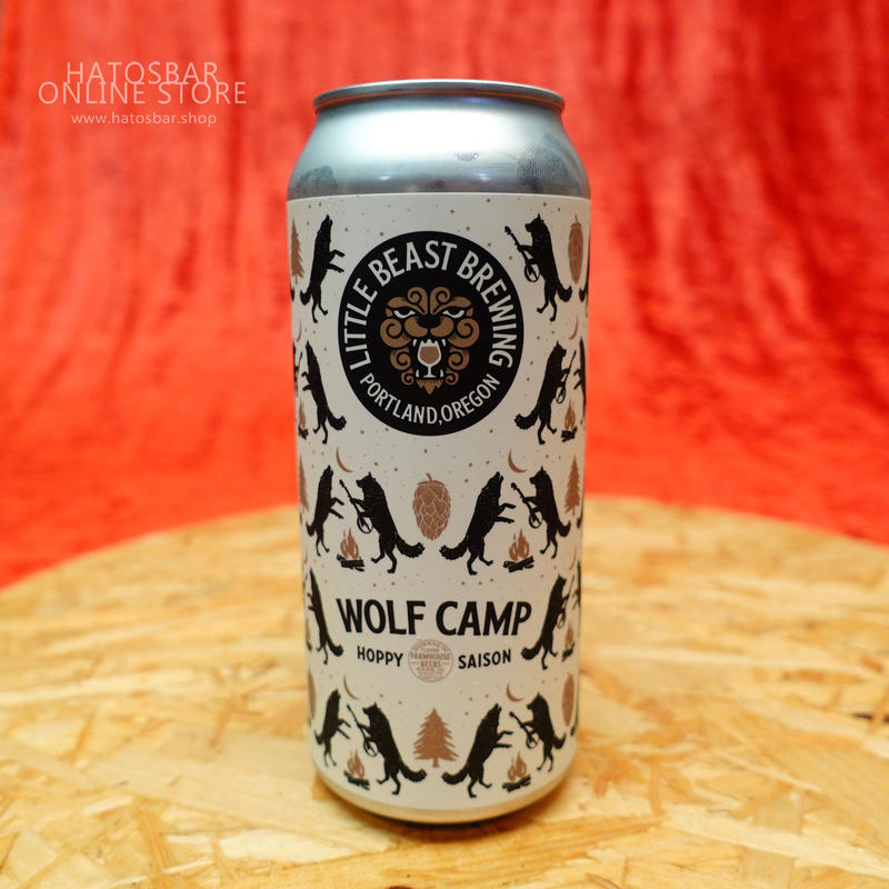 """CAN#53『WOLF CAMP』""""ウルフキャンプ"""" Hoppy saison/6.2%/473ml by LITTLE BEAST Brewing"""