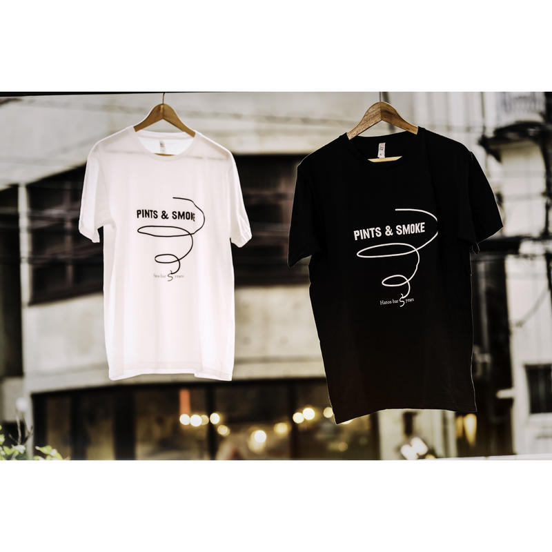 """""""PINTS&SMOKE"""" HATOSBAR Original T-SHIRTS """"パインツアンドスモーク"""" ハトスバー  オリジナル Tシャツ"""