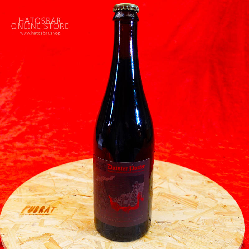 """BOTTLE#12『Duister Porter』 """"ディスターポーター"""" Imperial Porter/8.5%/750ml by UPRIGHT Brewing."""